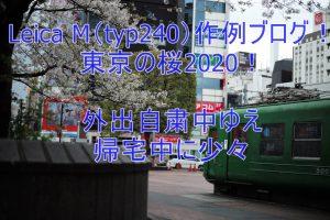 Leica M(typ240)作例ブログ!東京の桜2020!外出自粛中ゆえ帰宅中に少々